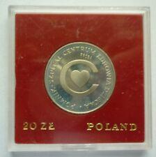 1979 POLAND - 20 ZLOTYCH - PROBA / PATTERN - I.Y.C. HEALTH CENTER - PROOF -RARE!