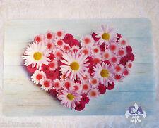 #10659 Platzdeckchen Blume Herz Liebe 2er Platzset Tischset Platzmatte