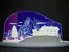 3D LED Arc Lumineux Verre acrylique Arches avec bois Cervin 47x21 cm 10701