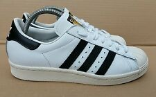 ADIDAS SUPERSTAR 80's LIMITED EDITION SIZE 6.5 UK BLACK AND WHITE GOLD LOGO MINT