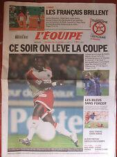 L'Equipe du 29/5/2004 - Finale Coupe France de foot - Roland Garros-Fr- Andorre