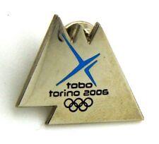 Pin Spilla Olimpiadi Torino 2006 Linked Logos - Tobo Mountains Metal