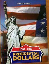 Folder (album) for Presidential Dollar Coins (USA $1 Presidents) 2007-2017