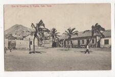 Rua de Coqueiros S Vicente Cabo Verde Vintage Postcard 417a