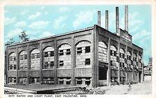 Ohio Postcard c1910 EAST PALESTINE City Water Light Plant Columbiana County