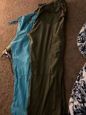 Lot Of 2 Koi Scrub Pants Large Teal And Olive