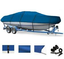"""BLUE, GREAT QUALITY BOAT COVER FOR V-Hull Runabouts 14'-16' Length, 90"""" Beam"""