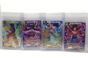 Dragon Ball Super Card Game Cross Spirits 4 Card Lot SPR Pack Fresh Near Mint #1
