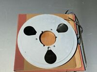 "Vintage 10.5"" Metal Take-up Tape Reel Aluminum w/ Tape & Box Audio Devices Inc"