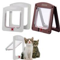 4 way Pet door Locking Small Large Dog And Cat Flap Magnetic Door Frame UK