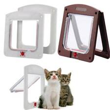 Pet Door Frame Safe 4 way Locking Small Medium Large Dog Cat Flap Magnetic NEW