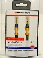 Monster 4-FT   1.21 M AUDIO 3.5 MM AUX CABLE Gold Contacts HD Audio Phone Tablet