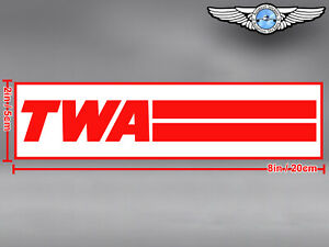 TWA TRANS WORLD AIRLINES RECTANGULAR LOGO DECAL / STICKER