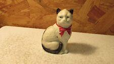 Vintage Painted Cat Cast Iron Bank