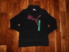 NWT Womens PUMA Black Pullover Long Sleeve Sweat Shirt Size M Medium