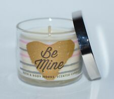 NEW BATH & BODY WORKS BE MINE HOT COCOA CREAM MINI SCENTED CANDLE 1.3 OZ HEART