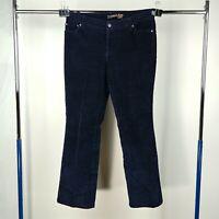 St. John's Bay Blue Corduroy Bootcut Pants Womens Petite Size 10P