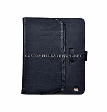 New iPad 2 3 & 4 cover Black Nappa Luxury Real Genuine Leather Cover Case Stand