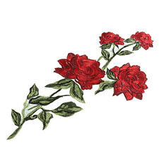 EMBROIDERED ROSE FLOWER LACE SPRAY APPLIQUE 2976-I