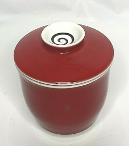 The Tea Spot Tech Teaware Infuser Steeping Cup Red 3 Piece Strainer Saucer Lid