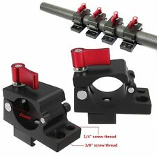 Red for DJI Ronin M MX Zhiyun Feiyu Support Clamps Adapter Stabilizer Kit Monitor Camera Clamp 25-27mm Rail Rod Screw Clamp Aluminum