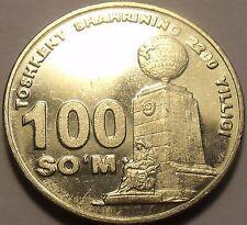 Unc Uzbekistan 2009 100 Som~Tashkent, 2200th Anniversary of Settlement~Free Shi*