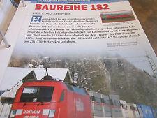 Deutsche Eisenbahngeschichte DB AG ab 1994 Bauereihe 182 Eurosprinter