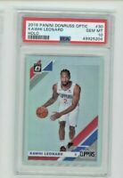 2019-20 Donruss Optic Holo Prizm Kawhi Leonard #30 SP Clippers PSA 10 GEM MINT