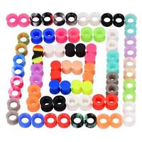 Lots/pcs-Soft-Silicone-Ear-Gauges-Ear-Skin-Tunnels-Earlets-Plugs-Piercing-Kits