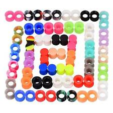 Lots/pcs-Soft-Silicone-Ea r-Gauges-Ear-Skin-Tunnels- Earlets-Plugs-Random-Color ful