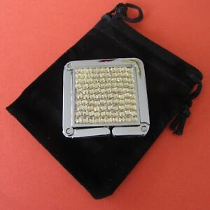Yellow Rhinestone Square Purse / Handbag / Bag Hanger / Hook / Caddy (Mr. Sales)