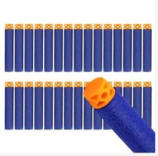 30pcs 7.2 cm Refill Soft Waffle Head Nerf Bullet Darts Blue