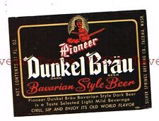 Dunkel Bräu Bavarian Style Beer 11oz Silver Springs Brewing Co Tacoma WASH small