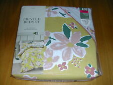 DOUBLE SIZE PRINTED DUVET COVER SET  -  FLORAL PATTERN  -  NEXT  -   BNWT