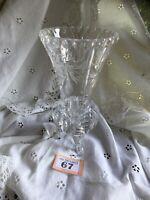 Vintage Cut Glass Vase With Three Feet