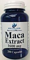Maca 1600 MG per Capsule 200 Capsules Maca Root Extract Highest Quality