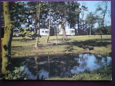 POSTCARD HUNTINGDONSHIRE GRAFHAM - OLD MANOR CARAVAN PARK (1)