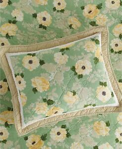 Martha Stewart Old World Rose Quilted Pillow Sham, Standard