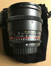Samyang 85mm T1.5 Aspherical Cine Lens  w/ De-clicked Aperture For Sony A Mount