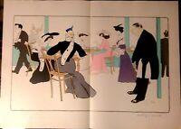 Sem Grande  Lithographie Original Palais de glace 72 x 52