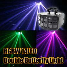 RGBW 14 LED Double Butterfly Light Disco DJ Stage Lighting DMX Party KTV Remote