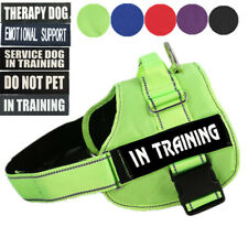 No Pull Large Extra Big Dog Pet Vest Harness W/ Removable Patches From S to XXL