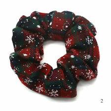Christmas Elastic Large Hair Ring Scrunchie Ponytail Holder Hair Ties No.2