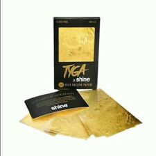 SHINE Smoking Accessories Shine x Tyga 6 Ct 24K Gold King Sized Rolling Papers