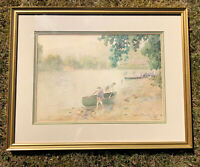 """Framed Paul Sawyier """"The Holiday"""" Print -Signed & Numbered 465/2200 Authentic"""
