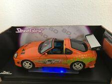 ERTL 1:18 Fast & Furious STREETGLOW Toyota Supra 1995 (Paul Walker) Racing Champ