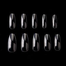 Makartt 500pcs Nail Tips Half Cover Clear Acrylic Gel False Nails 10 Sizes