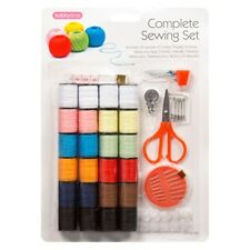 Complete Sewing Kit 24 Cotton Thread Spools/Scissors/Measure Tape/Thimble/Needle