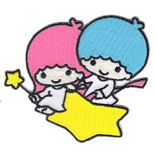 Hello Kitty Little Twin Stars Cartoon Iron On Embroidered Applique Patch