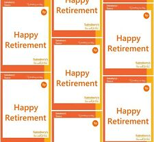 Funny SAINSBURYS BASICS HAPPY RETIREMENT Wrapping Paper A1, A2, A3 - party, joke